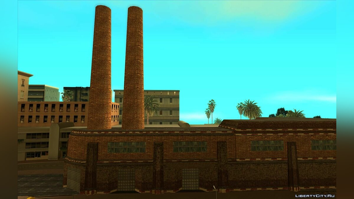 Texture mod New textures for the Los Santos plant for GTA San Andreas