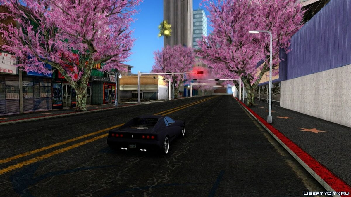 Texture mod Cherry trees 1.0 for GTA San Andreas