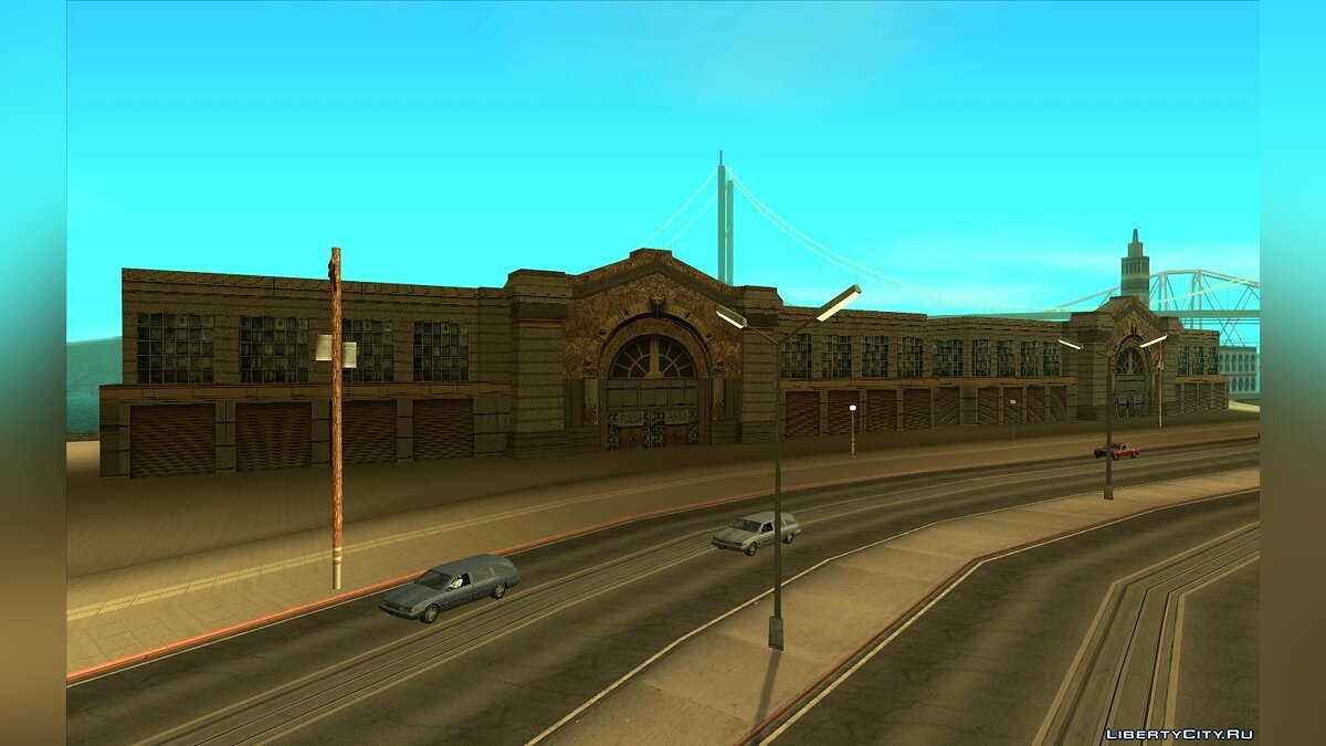 Texture mod HQ textures for the pier in San Fierro for GTA San Andreas