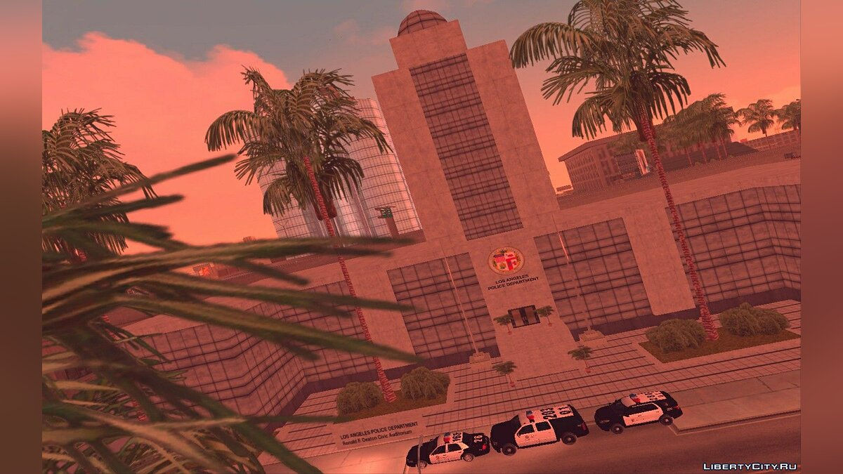 Texture mod Retexture and Remodeling of the Los Santos Police Department for GTA San Andreas