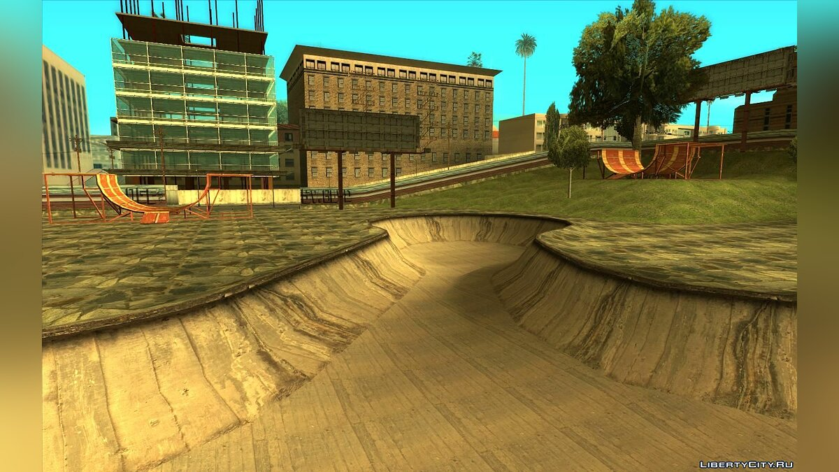 Texture mod New textures for the skate park in Los Santos for GTA San Andreas
