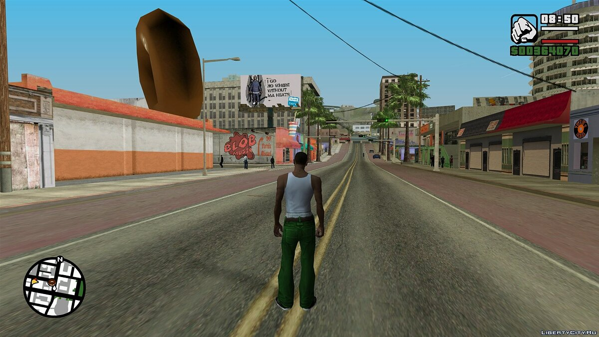 Texture mod HQ tags on the map for GTA: Underground in the style of the original SA for GTA San Andreas