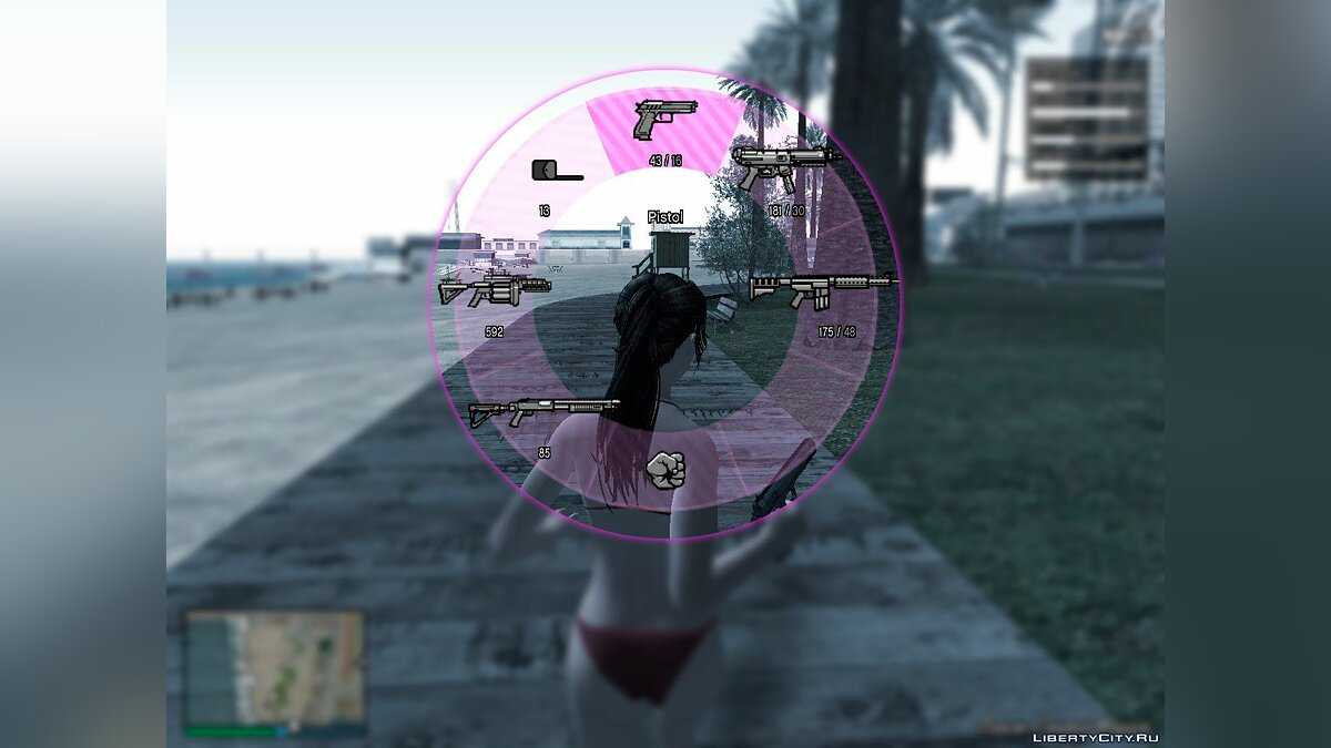 Texture mod Retexture GTA V HUD by DK22Pac [Pink or Rose] for GTA San Andreas