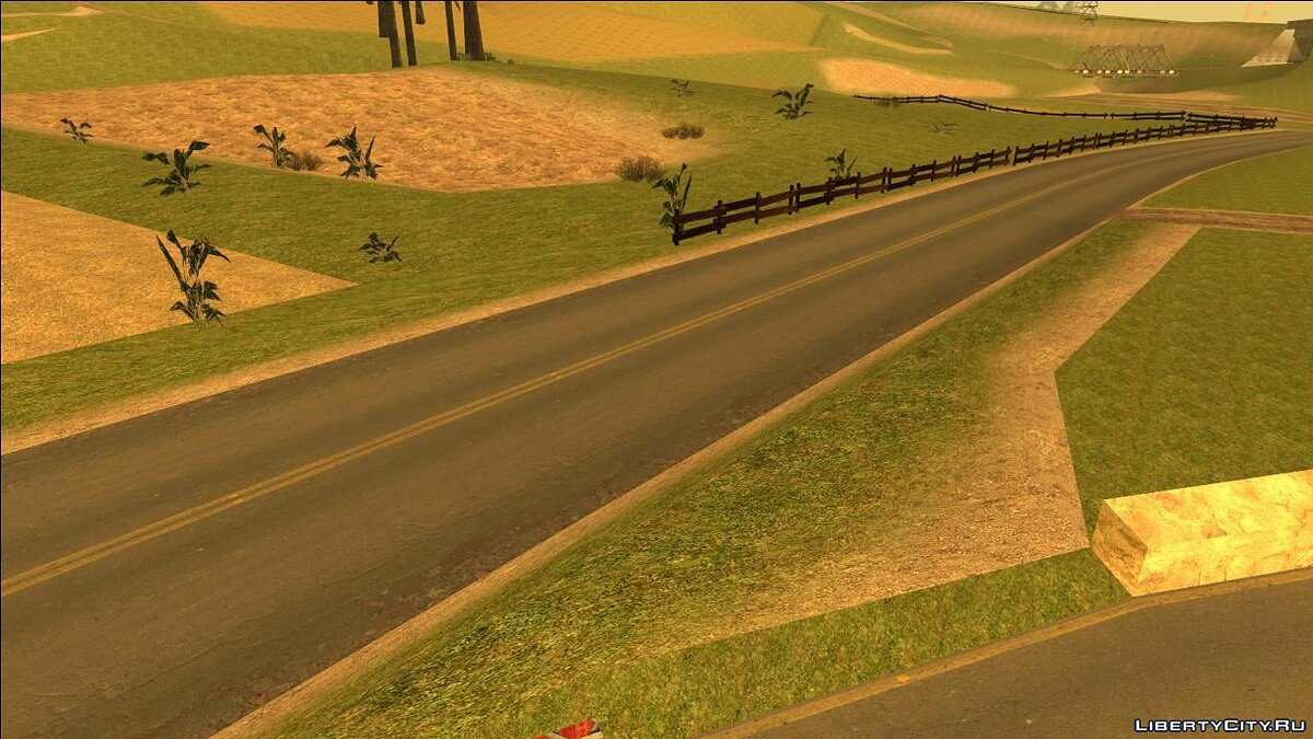 Texture mod Real HQ Roads (revised) for GTA San Andreas