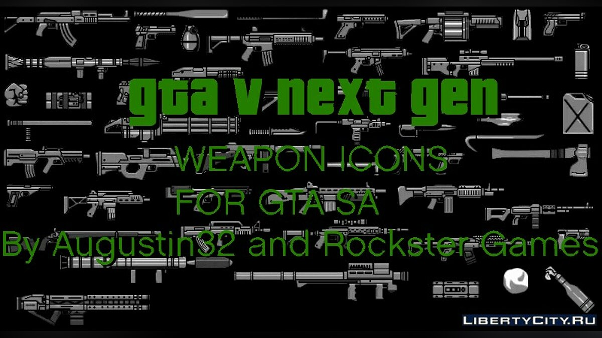 V.2 GTA V Next Gen Weapons Icons For GTA V HUD for GTA San Andreas