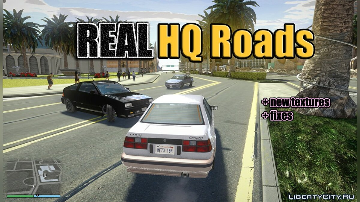 Real HQ Roads - Real HQ Roads (fixed) for GTA San Andreas - Картинка #1