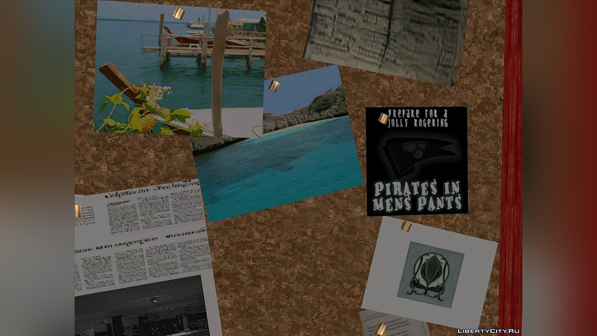 Texture mod AI texture improvement note board for GTA San Andreas