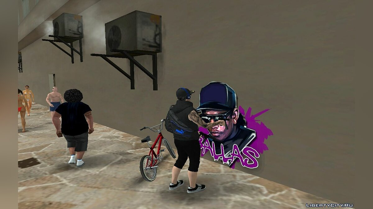Texture mod New graffiti for gangs for GTA San Andreas