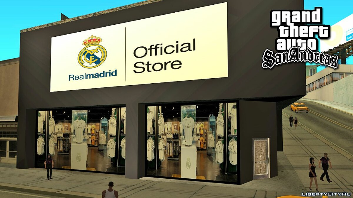 Texture mod Real Madrid Store for GTA San Andreas