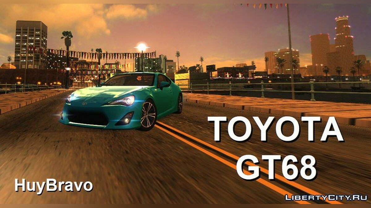 Toyota car Toyota GT68 + sounds for GTA San Andreas