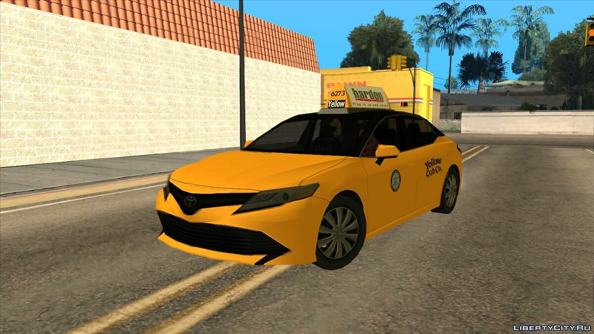 Toyota car Toyota Camry Hybrid 2018 [LQ] [TAXI] for GTA San Andreas