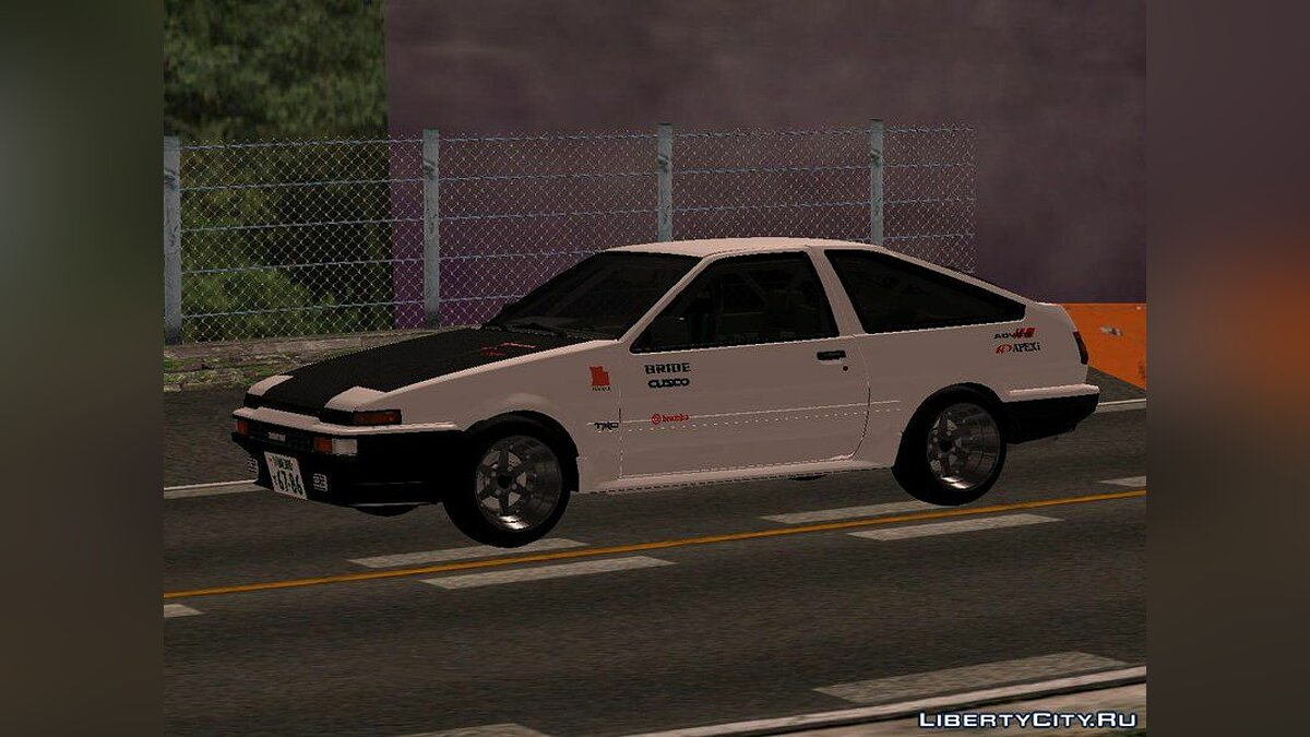 Toyota car Toyota AE86 Trueno Kouki Touge Edition for GTA San Andreas