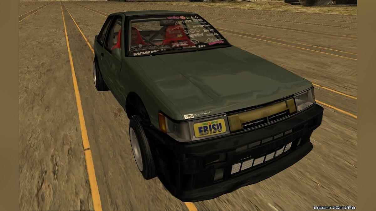 Toyota car Toyota AE86 Levin (Coupe) - Vision TopTeen for GTA San Andreas