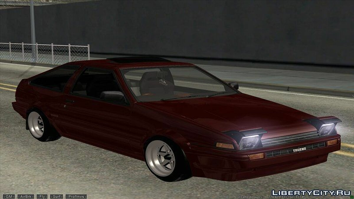 Toyota car Toyota AE86 trueno for GTA San Andreas