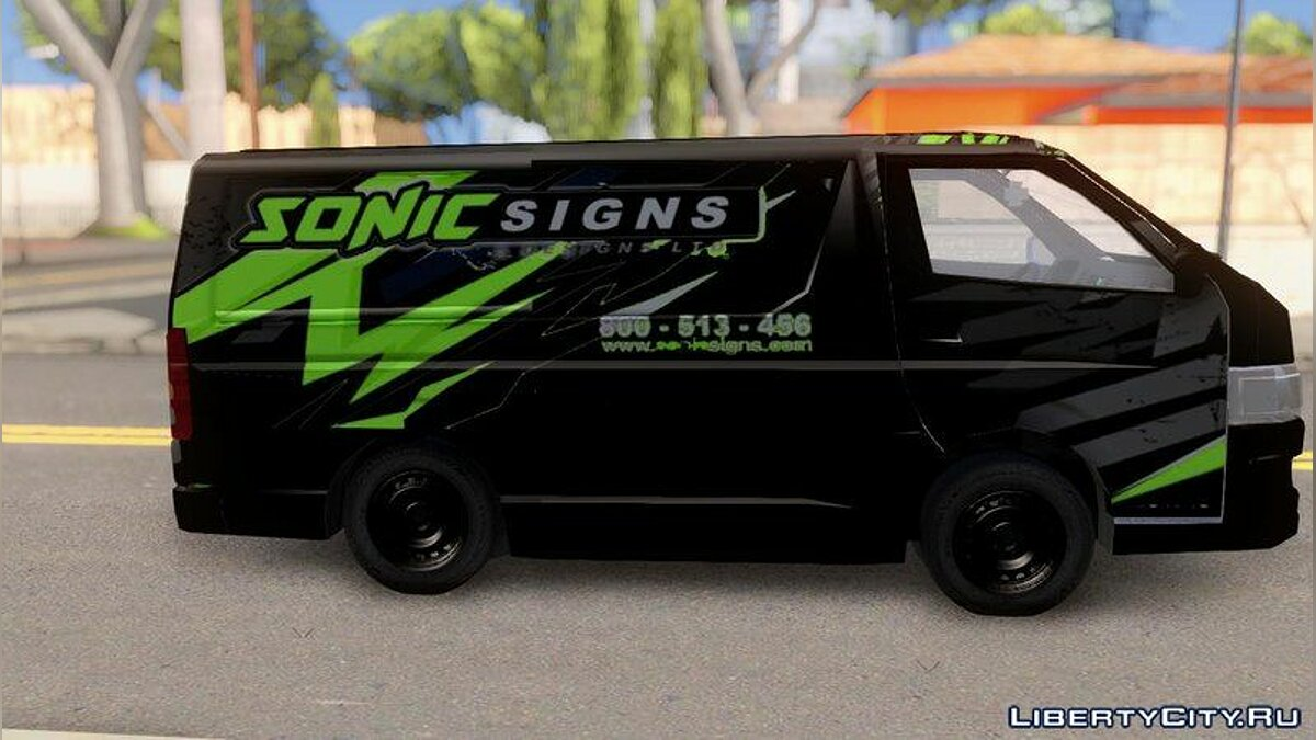 Toyota car Toyota Hiace Sonic signs & Excel Cargo Van for GTA San Andreas