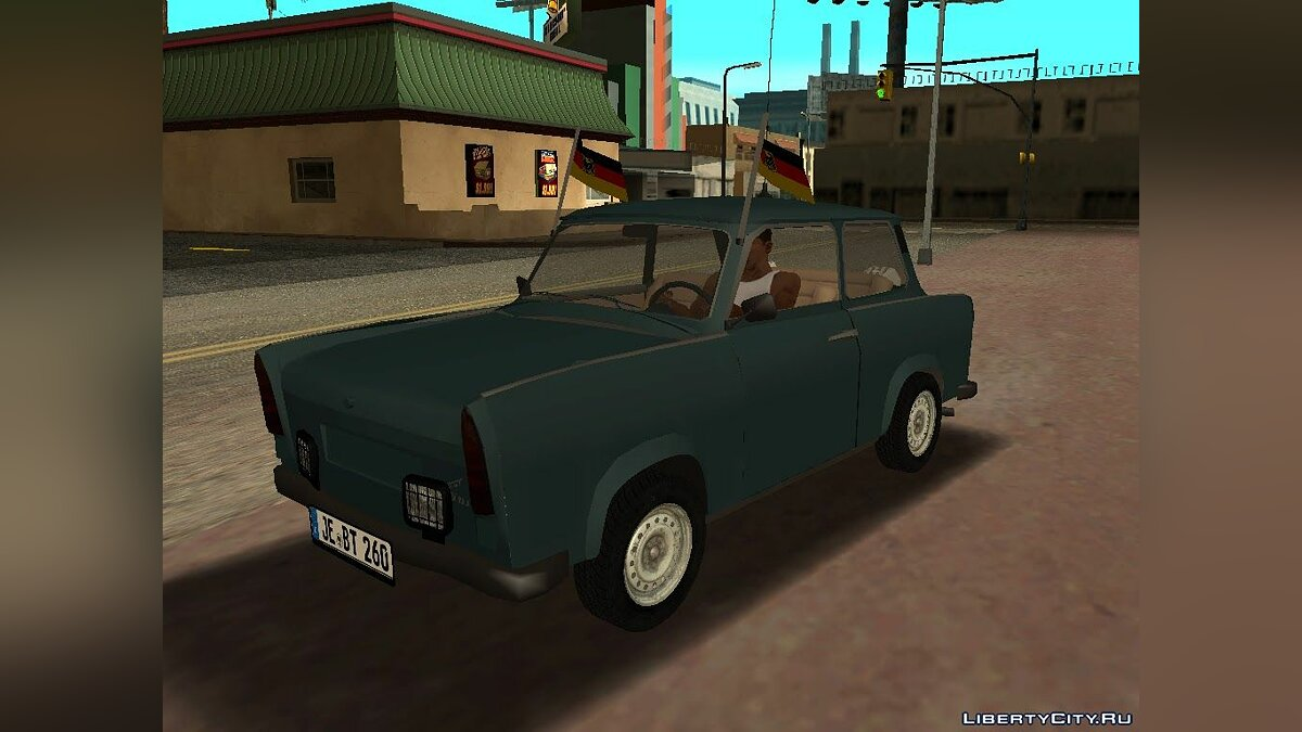 Trabant car Trabant 601 Double Rear for GTA San Andreas