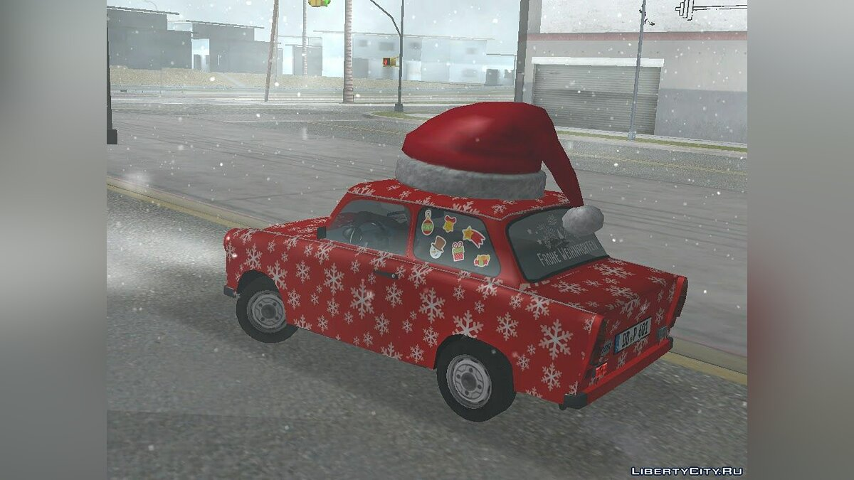 Trabant car Trabant 601 Christmas Edition for GTA San Andreas