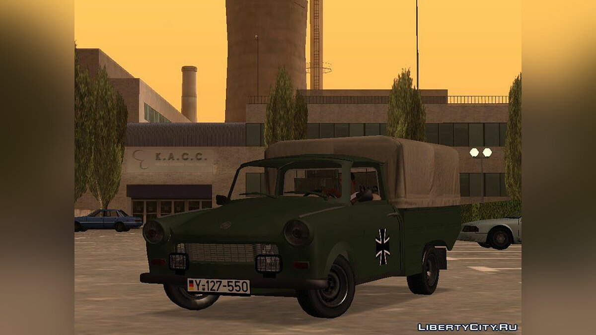 Trabant car Trabant 601 German Military Pickup for GTA San Andreas