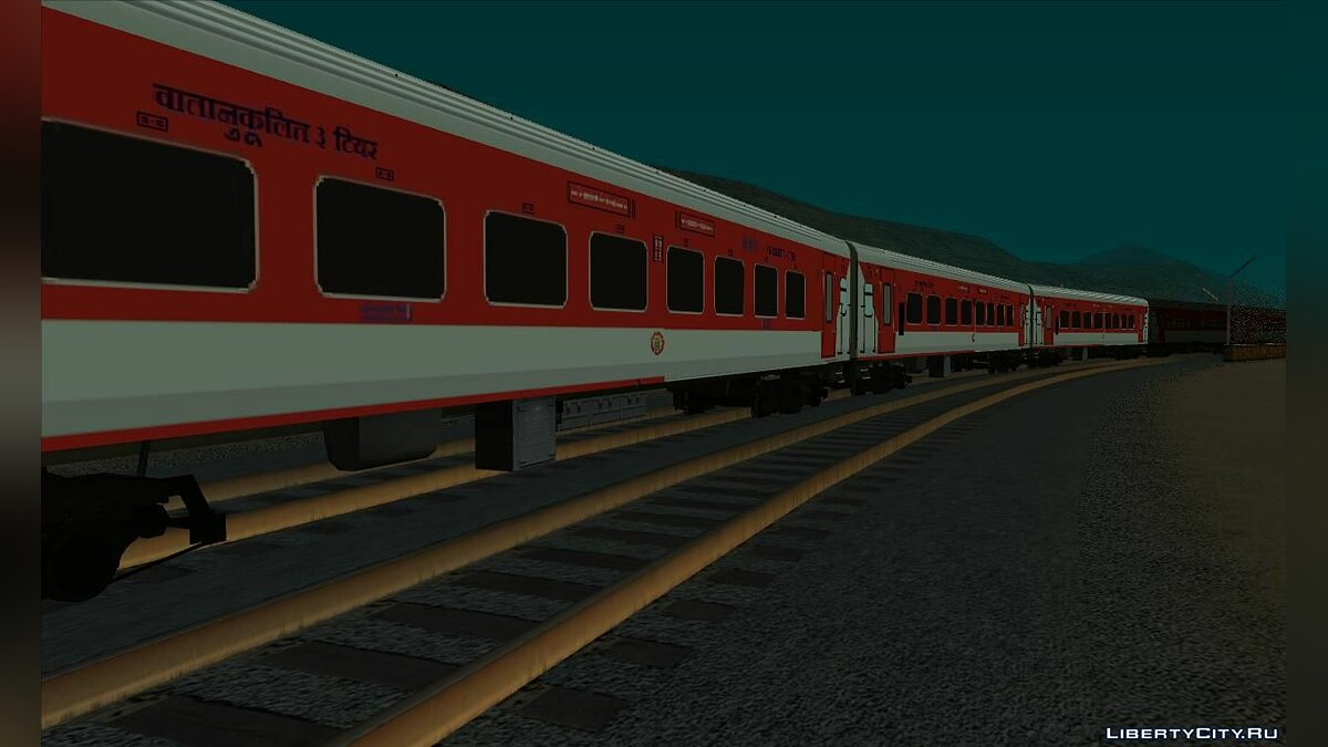 Train and tram Indian wagons for GTA San Andreas
