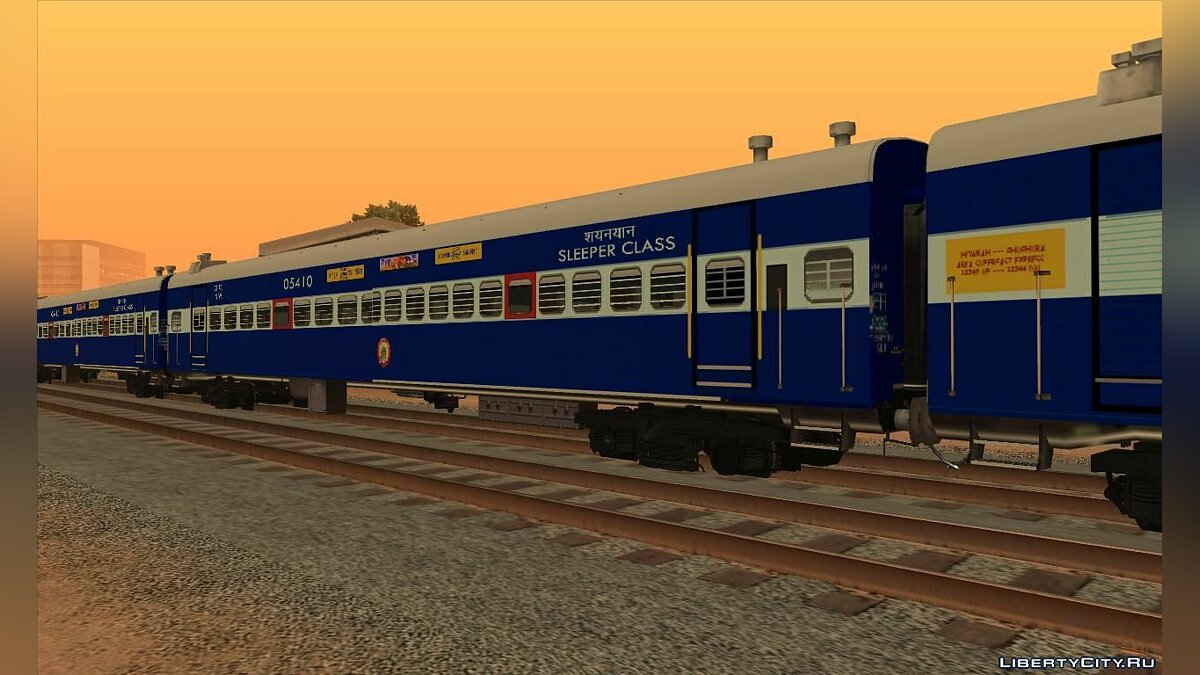 Train and tram Indian railroad cars for GTA San Andreas