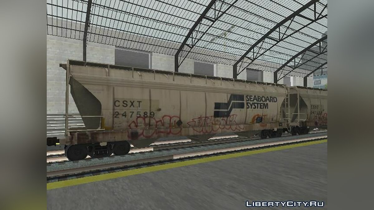 Train and tram Freight car Seaboard System Hopper for GTA San Andreas