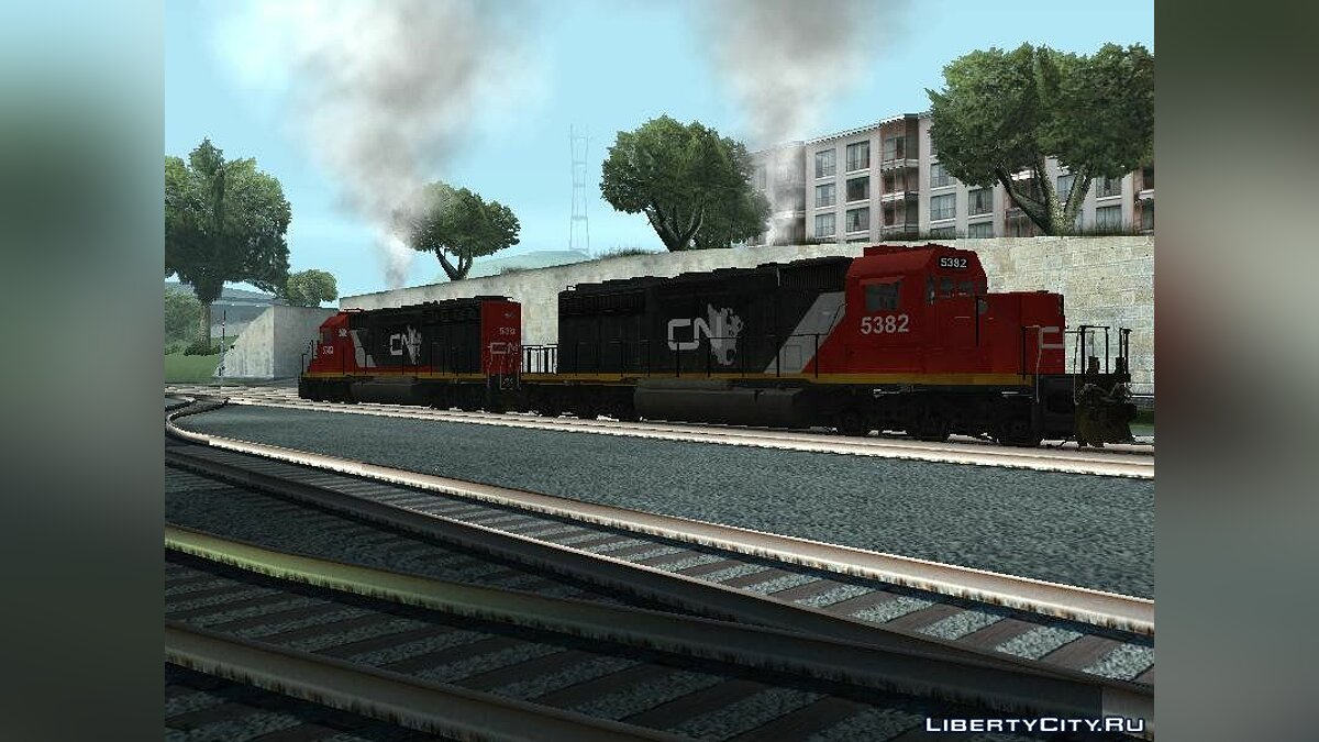 Train and tram Locomotive EMD SD40-2 Canadian National for GTA San Andreas