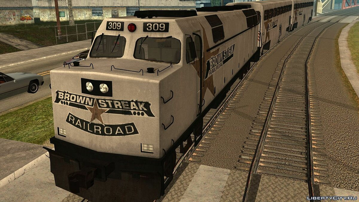 Train and tram HD train Brown Streak for GTA San Andreas