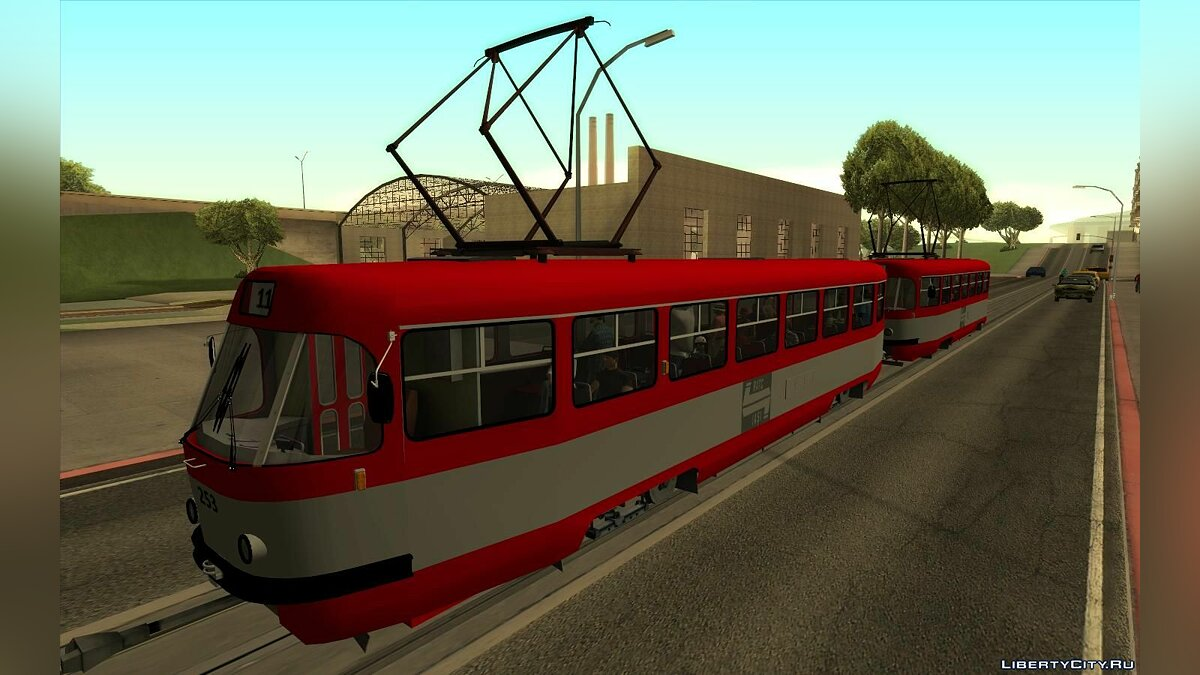 Train and tram Tatra T4R RATC Iasi for GTA San Andreas