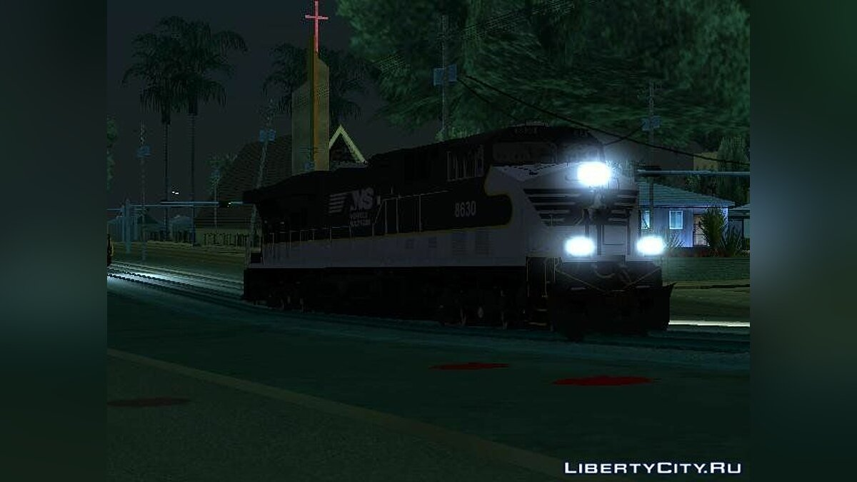 Train and tram Локомотив Norfolk Southern ES44 for GTA San Andreas