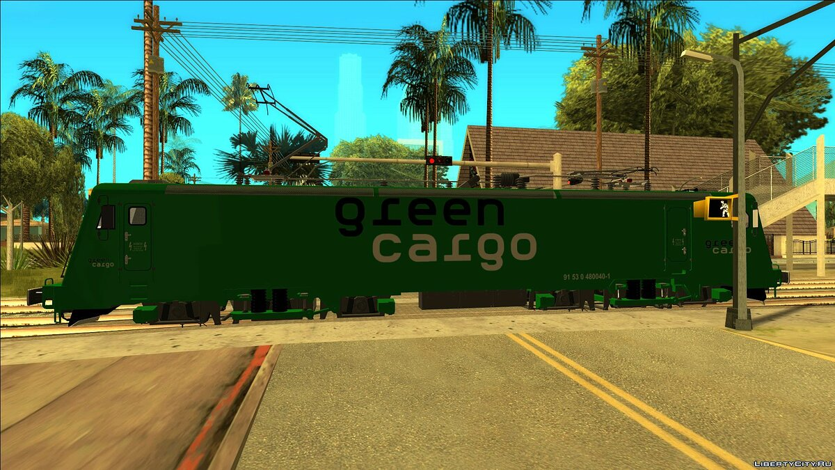 Train and tram LEMA 480-040 Green Cargo Sweden for GTA San Andreas