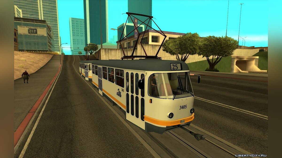 Train and tram Tram Tatra T4 RATB for GTA San Andreas