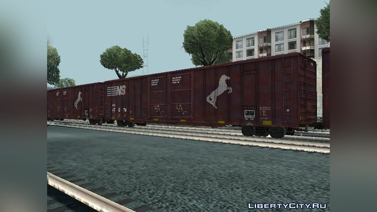 Train and tram Wagon Norfolk Southern Railroad for GTA San Andreas