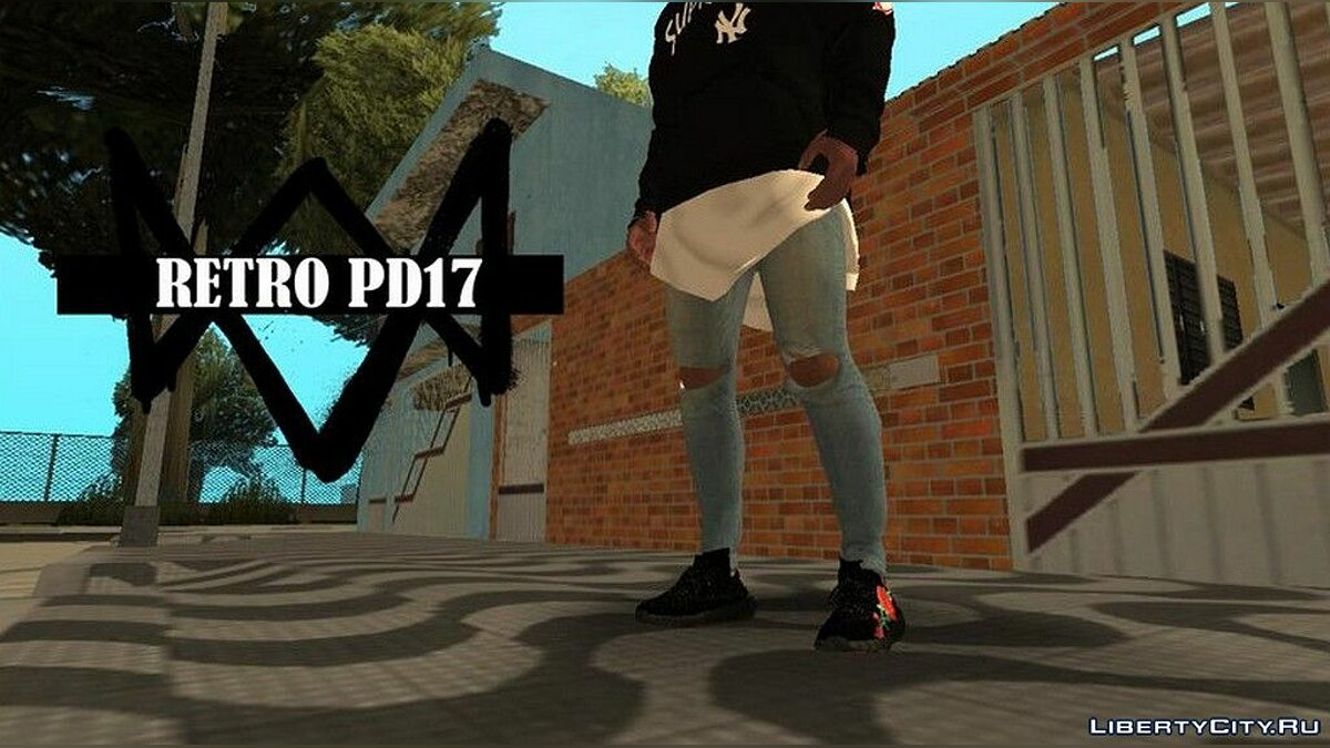 Pants and shorts Ripped Jeans for Franklin for GTA San Andreas