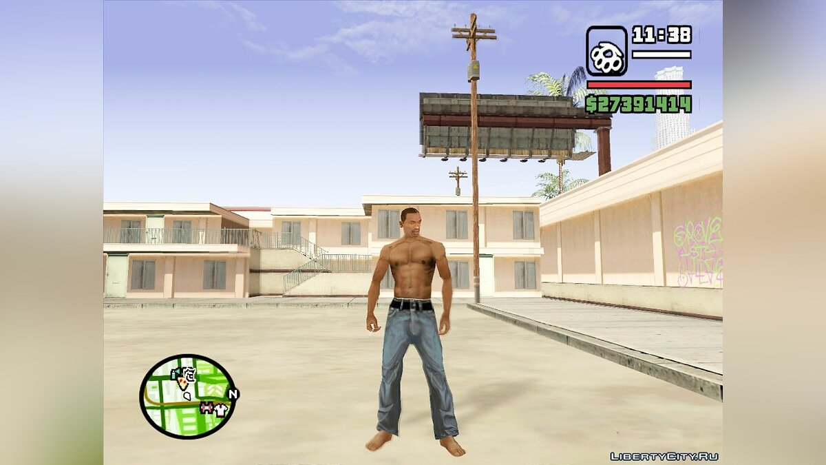Pants and shorts Jeans as in Beta version for GTA San Andreas