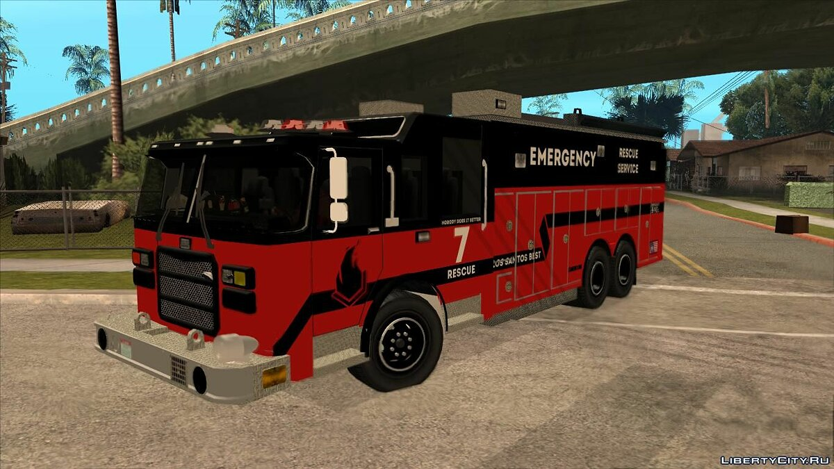 Truck Pierce Commercial High Rescue Unit for GTA San Andreas