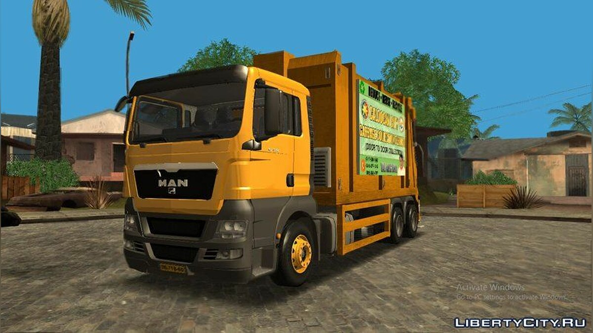 Truck MAN TGS 18.320 Garbage Truck Philippines Quezon City for GTA San Andreas