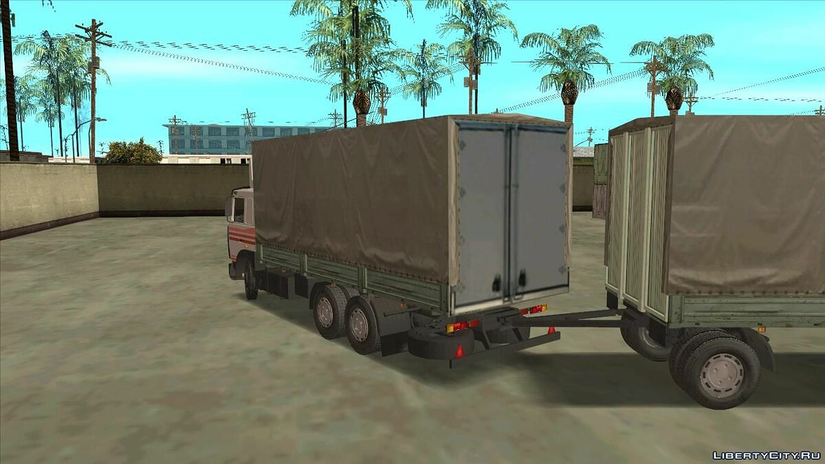 Truck MAZ-6303 + Trailer for GTA San Andreas