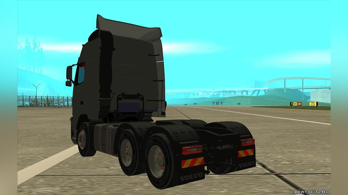 Truck Volvo FH16 under the style of the company