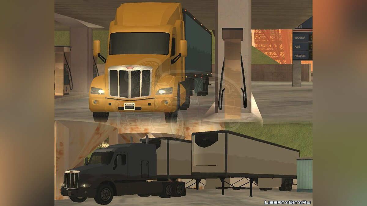 Truck Peterbilt 579 [LQ] [SA Style] for GTA San Andreas