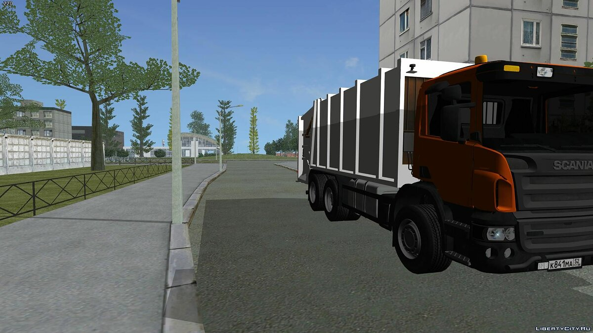 Truck Scania P420 - garbage truck for GTA San Andreas