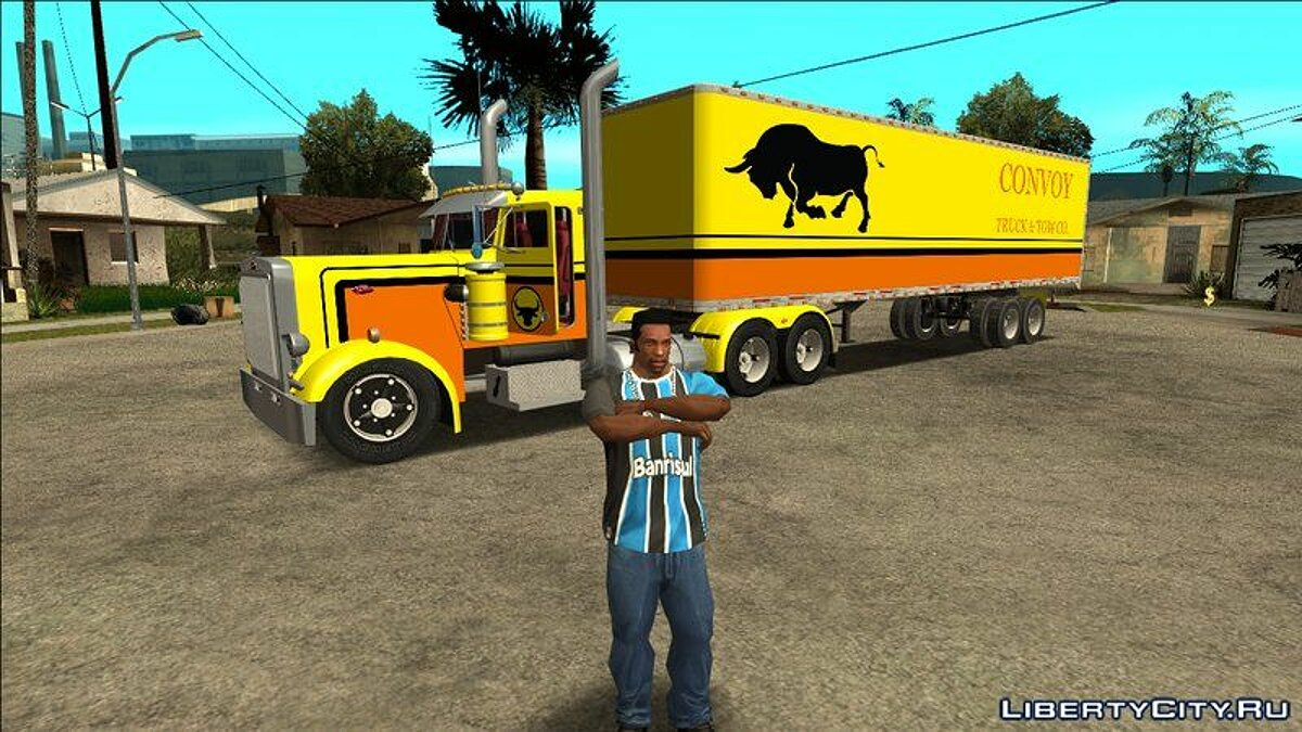 Truck Peterbilt 379 and Trailer Livingston for GTA San Andreas