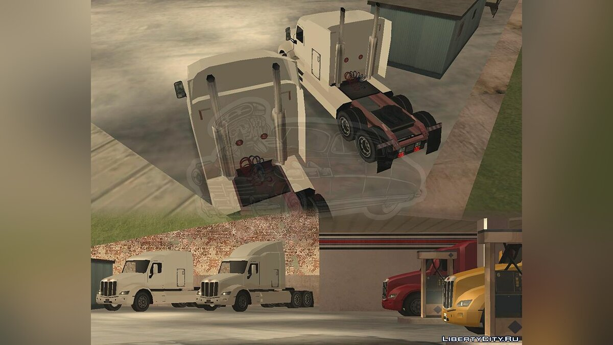 Truck Trailer for Peterbilt 579 [LQ] [SA Style] for GTA San Andreas