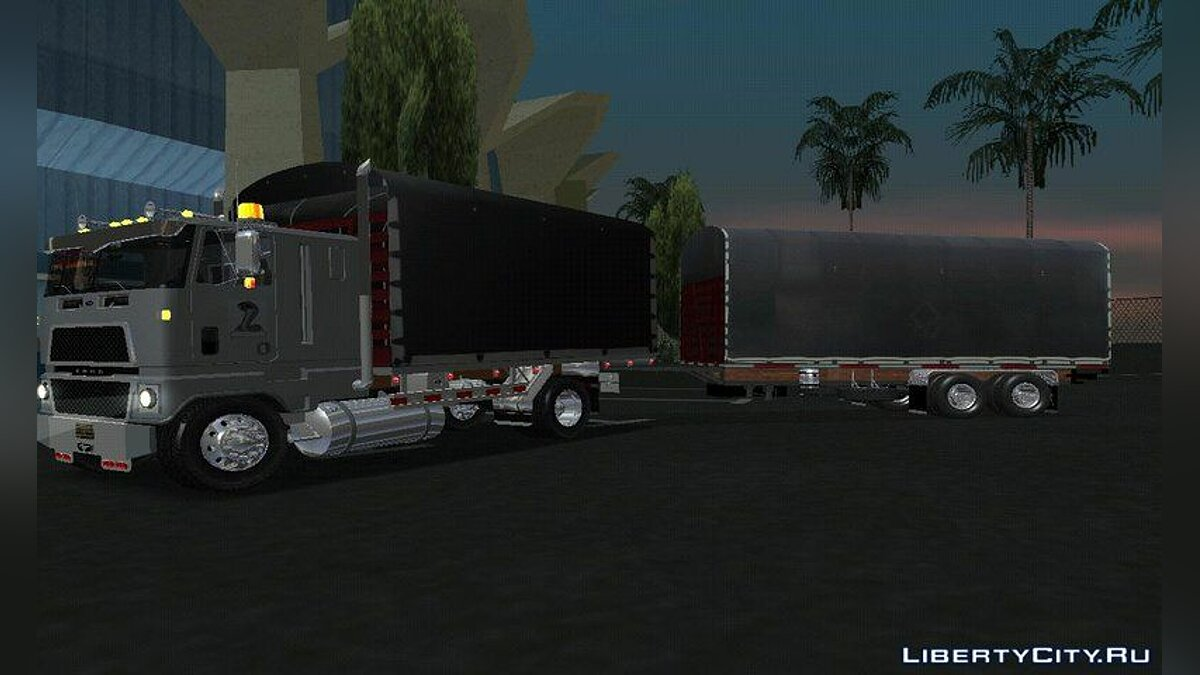 Truck FORD CTL 9000 + trailer for GTA San Andreas