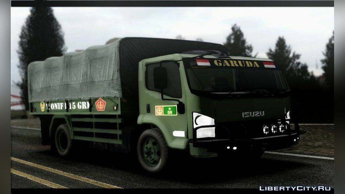 Truck Isuzu NPS TNI AD Indonesian Style Truck for GTA San Andreas