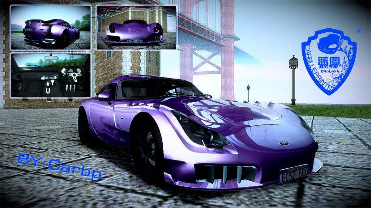 TVR car 2005 TVR Sagaris V1.0 for GTA San Andreas
