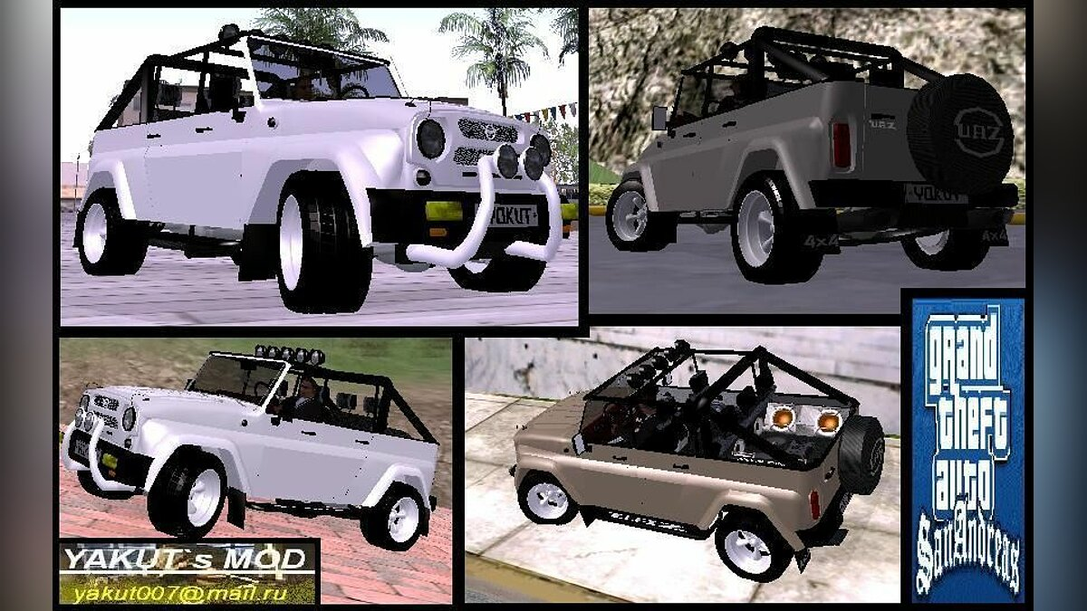 UAZ car UAZ-3159 for GTA San Andreas