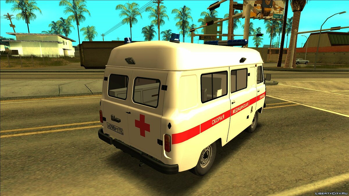 UAZ car UAZ-2206 - ambulance for GTA San Andreas