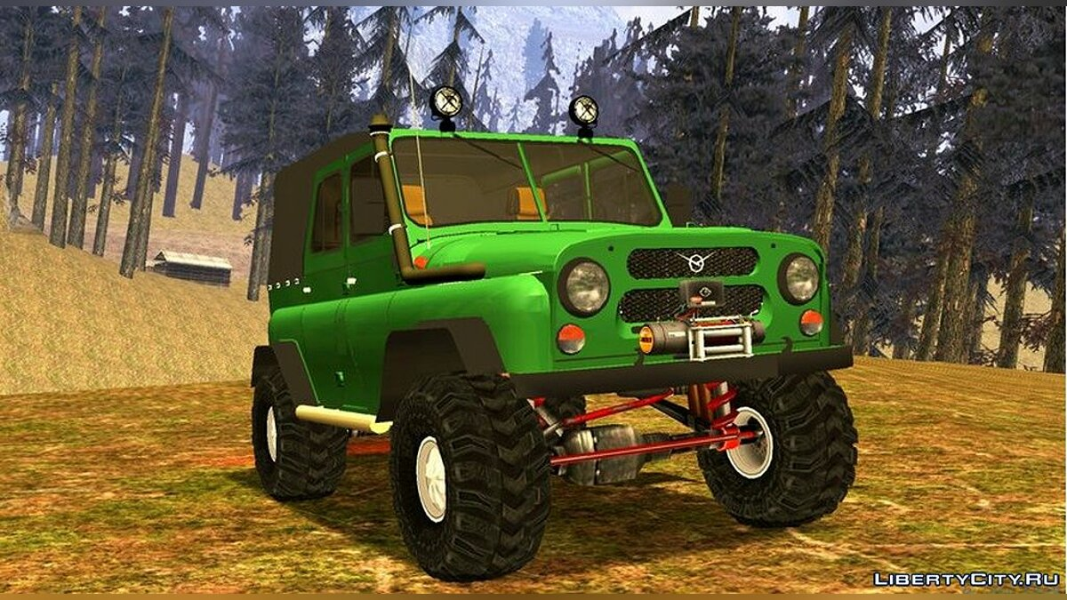 UAZ car UAZ 469 + version without texture for Android for GTA San Andreas