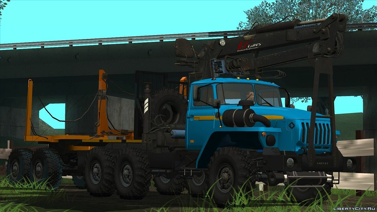 Ural car Ural-4320 timber tractor and trailer dissolution for GTA San Andreas