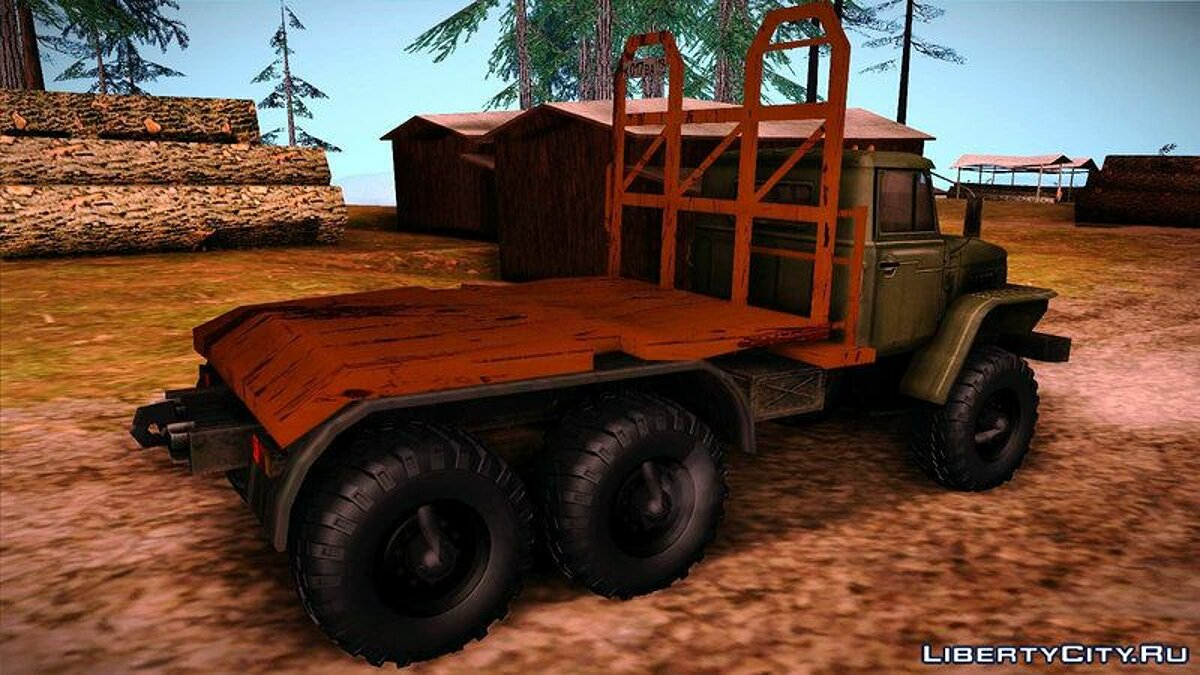 Ural car Урал 4420 Timber Carrying Vessel for GTA San Andreas